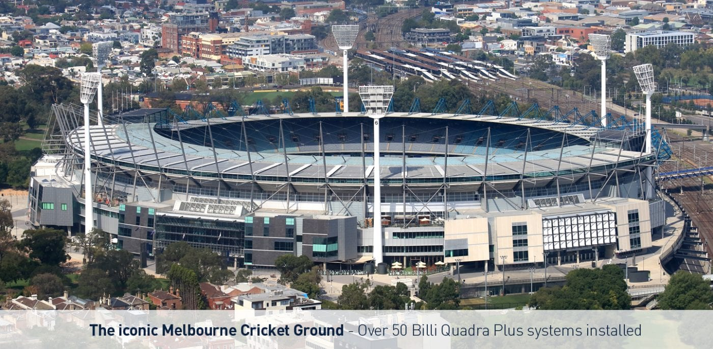 Billi systems used at the MCG