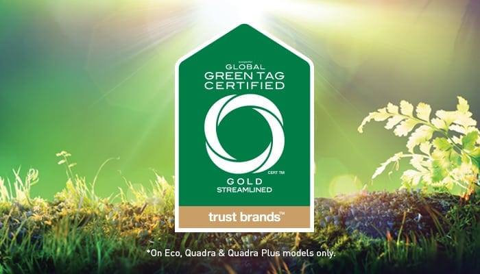 GreenTag Certified logo on green grass and fern background