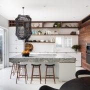 Billi XL Matte White in white and timber kitchen